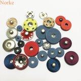 Accessoires de mode cousant le bouton en métal avec couvert de tissu