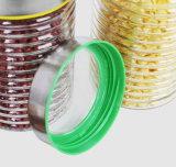 تخزين طعام مرطبان زجاجيّة [2100مل] محدّد [1700مل] [1100مل] [800مل] مع معدن تغطية زجاجيّة