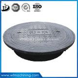 Proveedor de fundición chino Qt500-7 circular de boca en cubiertas de hierro dúctil de cajas registradoras