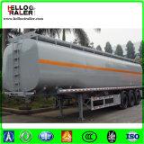 Aleación de aluminio del fabricante 42000L 5858 acoplado del tanque de Tranfer del combustible de 3 árboles