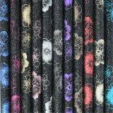 Cuoio di pattino sintetico dell'unità di elaborazione di scintillio di disegno del fiore per le donne, bambini