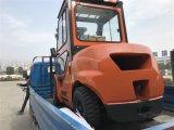 Carretilla elevadora del mástil del motor diesel los 3m de Isuzu del calentador de la CA de la cabina
