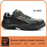 La seguridad ligera del casquillo de acero respirable de la punta se divierte los zapatos Sc-8803