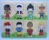Het houten Houten OnderwijsStuk speelgoed van het Raadsel (34172A)