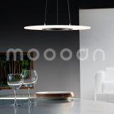 Moderno UFO de aluminio ultra delgado claro redondo lámpara colgante con control remoto