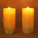 Hochzeits-Dekoration flammenlose LED schnitzen Wachs-Kerze