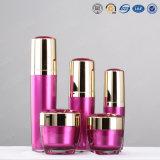 Bouteille cosmétique acrylique en plastique de crème de Bb de bouteille de pompe de lotion d'or de fantaisie argentée de qualité