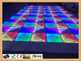 o melhor preço de grosso DMX RGB Dance Floor portátil mutável colorido de 1*1m DMX RGB Dance Floor para o banquete de casamento