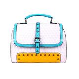 새로운 최신유행 PU 부대, 숙녀 대조 색깔 핸드백