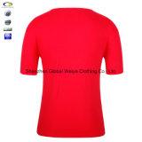 Pleine douille bon marché marquée conception de T-shirt de collier