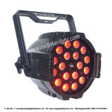 18PCS 15W Rgbaw+UV 6 in 1 indicatore luminoso di PARITÀ del LED
