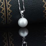 Ожерелье шкентеля перлы раковины способа стерлингового серебра женщин 925