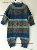 Baby Boys Fairisle Intarsia - True Baditted Romper