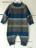 Neonati Fairisle Intarsia - allineare il pagliaccetto lavorato a maglia