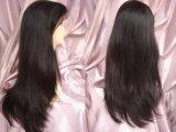 Parrucche piene indiane del merletto/gruppi di lavoro capelli umani