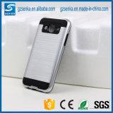 Cas de téléphone mobile de satin de balai pour la couverture arrière antichoc de la galaxie J5 de Samsung