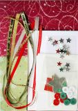 Natal Card DIY com Ribbons e Buttons (HCS-14C)