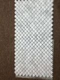 Italia Bianco Carrera de mármol blanco del azulejo Mini pescado Escala de Mosaico