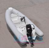 Liya 12.5ftの中国製膨脹可能なモーター普及した観光の小さいガラス繊維の肋骨のボート