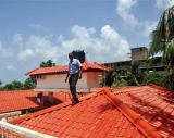 Mattonelle di tetto di bambù di rinforzo vetroresina di stile della resina