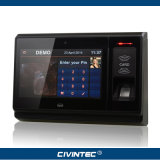 Service biométrique de temps de lecteur de RFID androïde de la radio GPRS d'IP de TCP de la capacité de 9500 empreintes digitales