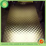 KTV 벽 훈장 건축재료 304 사우디 아라비아에 있는 Kg 당 스테인리스 장 가격을 각인하는 201 다이아몬드