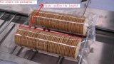 Uma fileira na máquina de empacotamento da borda para o biscoito