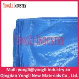 Tela incatramata rivestita UV blu portatile 6mil di vendite calde poli