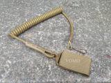 Laisse enroulée de lanière de pistolet de main de ressort élastique tactique Combattre-Vert de canon