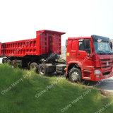 Trattore dei motori diesel 420horsepower HOWO con il semirimorchio del ribaltatore dei 3 assi