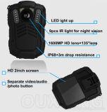 Долгое время HD широкоформатное записывая портативным камеру полиций видео- несенную телом