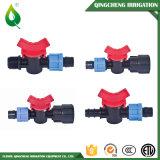 Soupape de coupleur en plastique de tube de jardin d'irrigation par égouttement mini