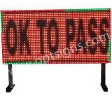 Tablilla de anuncios al aire libre impermeable de LED del tráfico electrónico a todo color 12V de la matriz P10