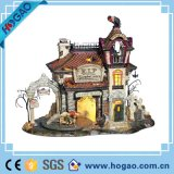 Halloween Theme and Holiday Decoração Gift Resin Pumpkin and House
