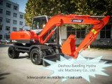 Aufbau-Maschinen-kleiner Rad-Exkavator mit Bescheinigung ISO9001