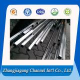 Tuyauterie carrée en aluminium produite par usine chaude de vente