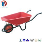Wb3800 roda de borracha contínua do Wheelbarrow 13X3