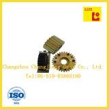 Drie verschillende soorten Spur Gears, met geel zink Plating of Chemical zwarte afwerking