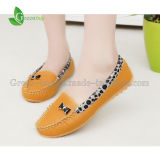 Arrival novo Leopard Flats Women Shoes de Spring e de Autumn Flat Shoes com 3 Color e Plus Size