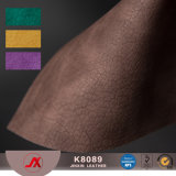 Leer van pvc van het Ontwerp van het Kunstleder van pvc van de Fabriek van China het Uitstekende Dubbele Kleur Afgedrukte voor Zakken, Bank