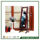 Пол стоя деревянный отраженный шкаф ювелирных изделий