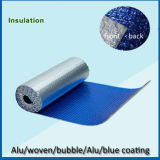 味方されたアルミホイルの支持された青いPEによって塗られる熱の絶縁材を選抜する