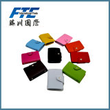 Portatarjetas de cuero colorido de la caja de tarjeta de la manera del asunto