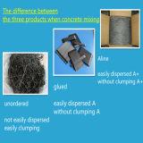 Les fibres en acier, fibres micro en acier, extrémité ont accroché la fibre en acier concrète