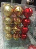 La decorazione di natale orna le sfere rotonde nei formati differenti (OEM)