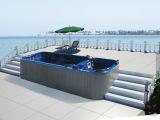 STATION THERMALE acrylique de bain d'Aristech de contrôle de balboa de massage de tourbillon de jardin (M-3323)