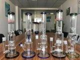 Neue Attrival gerade Glaswasser-Rohre für Tabak mit Eis-Klemme