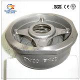 Type clapet anti-retour de disque d'acier inoxydable de levage