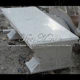 대리석 벤치 & 테이블 돌 벤치 & 테이블 화강암 벤치 & 테이블 백색 Carrara 벤치 Mbt 344