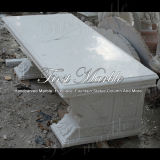 Marmeren Bank & Bank mbt-344 van het Graniet van de Steen van Carrara van de Lijst Witte
